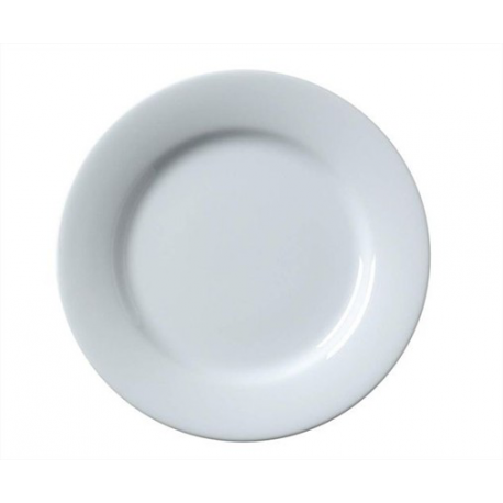 Location d'Assiette plate blanche - Julia 26 cm