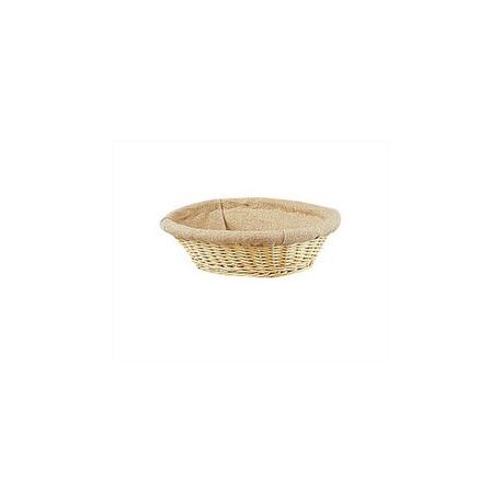 Corbeille à pain en Ocier avec Toile de Jute