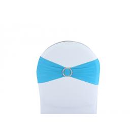 Vente de Nœuds de Chaise - Lycra Turquoise avec Broche