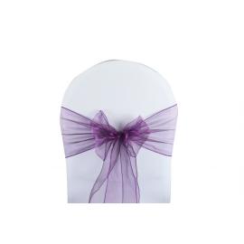 Vente de Nœuds de Chaise - Organza Violet