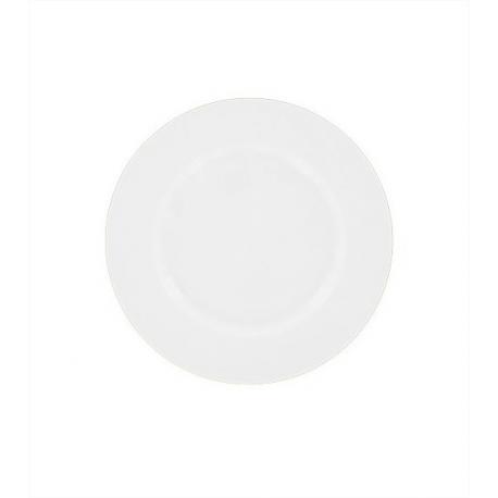 Location d Assiette plate blanche - Porcelaine 22 cm