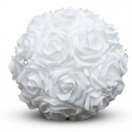 Boule de Roses Blanches - Diam 20 cm