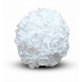 Boule de Roses Blanches - Diam 30 cm