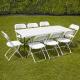 Location de Table rectangulaire avec 6 chaises pliantes