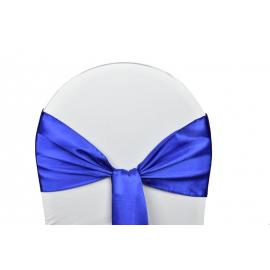 Location de Nœuds de Chaise - Satin Bleu Roi