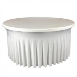 Nappe avec Juponnage pour Table Ronde 150 - 160 cm