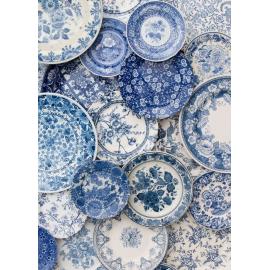 Assiette Vintage - Tendance Bleue