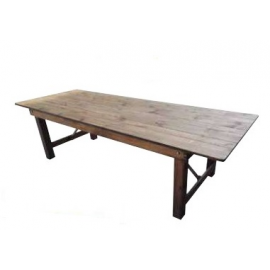 Location de Table rectangulaire en Bois - Vintage
