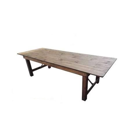 Location de Table rectangulaire en Bois - Vintage