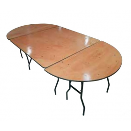 Table Ovale en Bois