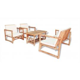 Location Salon en Bambou avec Coussins