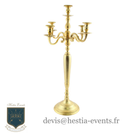Location Chandelier Or - 100 cm - 5 Branches pour Bougies