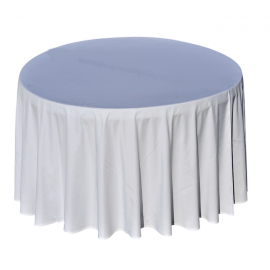 Nappe Blanche - Table Ronde - Diam 290 cm