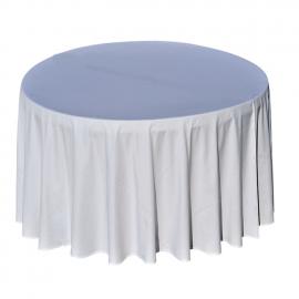 Nappe Blanche - Table Ronde - Diam 290 cm