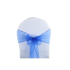 Vente de Nœuds de Chaise - Organza Bleu Roi