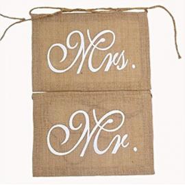 Bannières de Mariage - Mr & Mrs